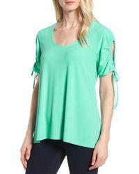Chaus - Green Drawstring Sleeve Top - Lyst