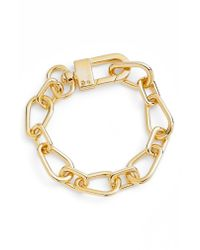 Vince Camuto - Metallic Crystal Clasp Chain Bracelet - Lyst
