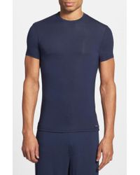 Calvin Klein | Blue 'u5551' Modal Blend Crewneck T-shirt for Men | Lyst