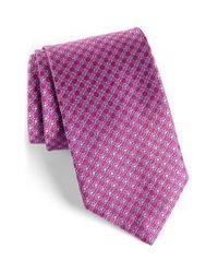 David Donahue - Purple Neat Silk Tie for Men - Lyst