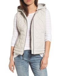 Marc New York - Natural Sage Hooded Quilted Vest - Lyst