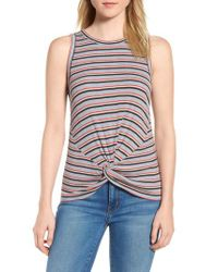 Lucky Brand - Multicolor Twist Front Tank - Lyst