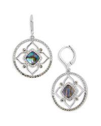 Judith Jack - Metallic Tropical Touches Flower Drop Earrings - Lyst