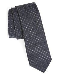 Ted Baker - Gray Dot Skinny Silk Tie for Men - Lyst