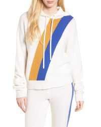 Juicy Couture - Blue Stripe Cashmere Hoodie - Lyst