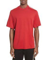 Y-3 - Red X Adidas Stripe Crewneck T-shirt for Men - Lyst