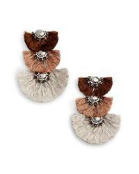 Nakamol - Multicolor Triple Drop Fringe Earrings - Lyst