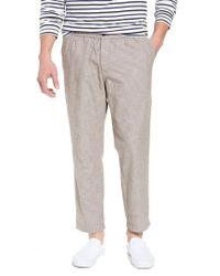 Nordstrom Gray 1901 Crop Chambray Chino Pants for men