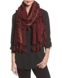 Eileen Fisher - Multicolor Metallic Wool Wrap - Lyst