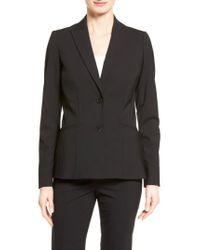 Lafayette 148 New York - Black Rhonda Stretch-Wool Jacket - Lyst
