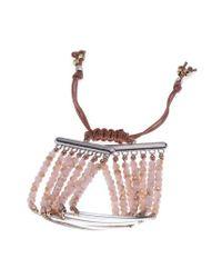 Nakamol - Pink Bar Charm & Beaded Bracelet - Lyst