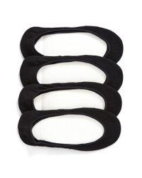 Hue | 4-pack Liner Socks, Black | Lyst