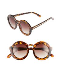 BP. - Brown 47mm Double Brow Round Sunglasses - - Lyst