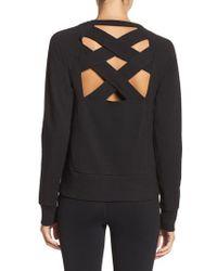 Zella - Black Covet Crisscross Sweatshirt - Lyst
