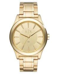 Armani Exchange   Metallic Nico Gold Watch   Lyst