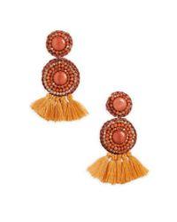 Panacea - Multicolor Tassel Drop Earrings - Lyst