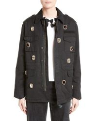 Tu Es Mon Tresor | Black Victorian Bijou Field Jacket | Lyst