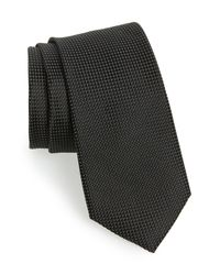 Ted Baker - Black Solid Silk Tie for Men - Lyst