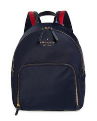 Kate Spade - Blue Watson Lane - Hartley Varsity Stripe Nylon Backpack - - Lyst
