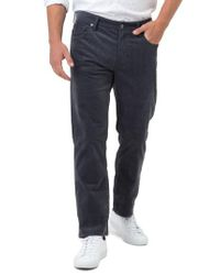 7 Diamonds - Gray Courtland Slim Fit Corduroy Pants for Men - Lyst