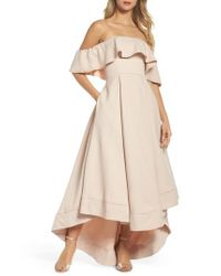 C/meo Collective - Natural Temptation Off The Shoulder Ballgown - Lyst