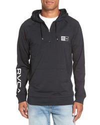RVCA - Black Quarter Zip Hoodie for Men - Lyst