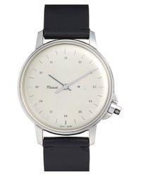 Miansai - Metallic 'm12' Round Leather Strap Watch - Lyst
