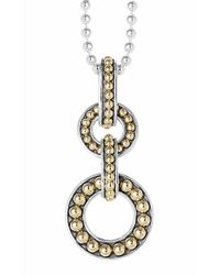 Lagos - Metallic 'enso' Pendant Necklace - Lyst