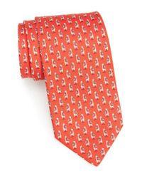 Ferragamo | Red Giraffe Silk Tie for Men | Lyst