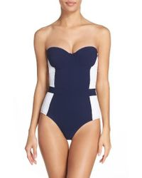 Tory Burch | Blue 'lipsi' Underwire One-piece Swimsuit | Lyst