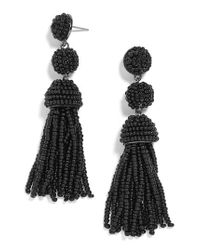 BaubleBar - Black New Mini Granita Tassel Earrings - Lyst
