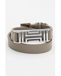 Tory Burch | Gray For Fitbit Leather Wrap Bracelet | Lyst