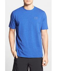 Under Armour | Blue 'sportstyle' Charged Cotton Loose Fit Logo T-shirt for Men | Lyst