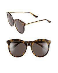 492a305900 Lyst - Gentle Monster 56mm Round Sunglasses - Dark Tortoise in Gray