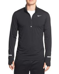 Nike | Blue 'element' Dri-fit Half Zip Running Top for Men | Lyst