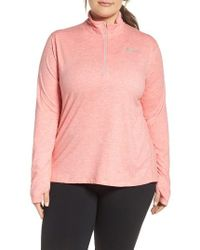 Nike   Pink 'element' Dri-fit Half Zip Running Top   Lyst