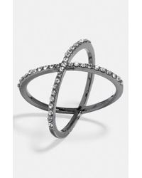BaubleBar | Metallic Crystal 'mason' Ring | Lyst