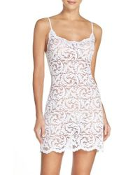 Natori | White 'boudoir' Lace Chemise | Lyst
