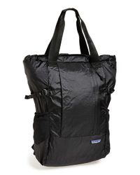 Patagonia | Black Lightweight Travel Tote Pack | Lyst