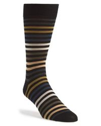 Pantherella - Black 'kilburn' Egyptian Cotton Socks for Men - Lyst