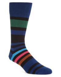 Paul Smith | Blue Odd Block Stripe Socks for Men | Lyst