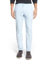 Bonobos - Blue Slim Fit Washed Chinos for Men - Lyst