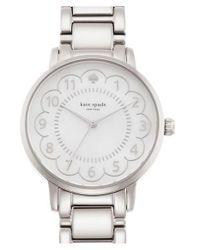 kate spade new york - Metallic 'gramercy' Scalloped Dial Bracelet Watch - Lyst