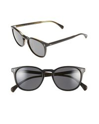 Oliver Peoples | Black 'finley' 51mm Polarized Sunglasses | Lyst