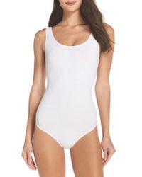 Yummie By Heather Thomson | White Ruby Thong Bodysuit | Lyst