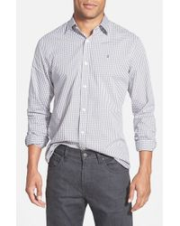 Victorinox | Gray Victorinox Swiss Army 'hagen Gingham Check' Tailored Fit Sport Shirt for Men | Lyst