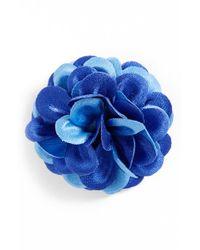 Hook + Albert | Blue Lapel Flower for Men | Lyst