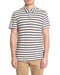 James Perse - Blue Stripe Cotton & Cashmere Polo for Men - Lyst