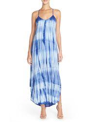 Fraiche By J - Blue Tie-Dye A-Line Maxi Dress - Lyst