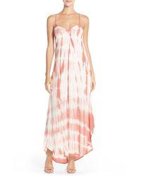 Fraiche By J   Purple Tie Dye A-line Maxi Dress   Lyst
